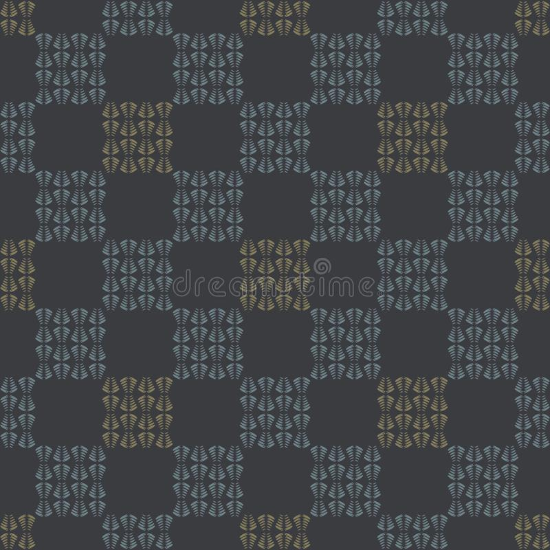 Modelo del vector de Gray Abstract Chequered Grid Seamless libre illustration