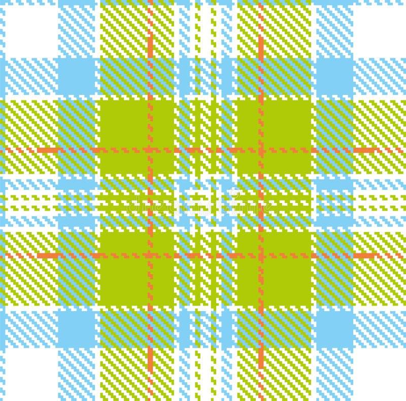 Modelo del vector en tela escocesa con un adorno repetible libre illustration