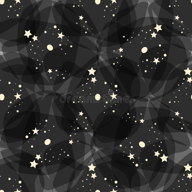 Modelo del vector hecho con las estrellas blancas sobre el fondo negro eps10 libre illustration