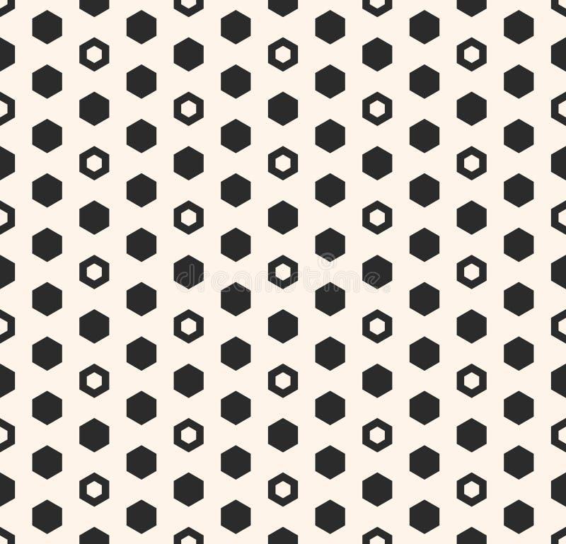 Modelo del vector del hexágono Formas hexagonales inconsútiles geométricas, panales libre illustration