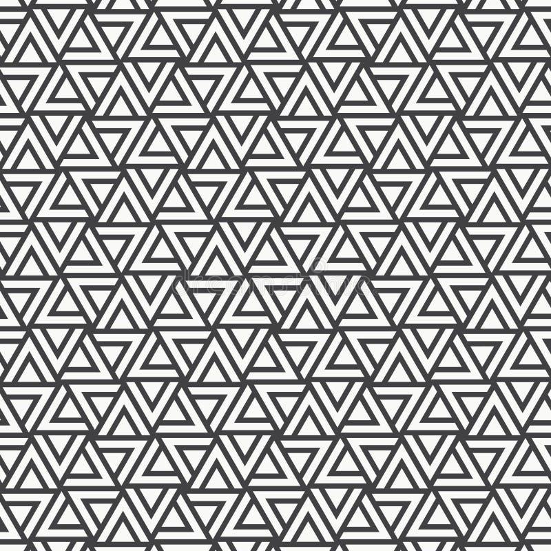 Modelo del vector Repetición de las tejas geométricas con los triángulos rayados libre illustration