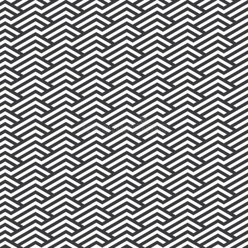 Modelo del vector Repetici?n de las tejas geom?tricas con los Rhombus rayados lineares stock de ilustración