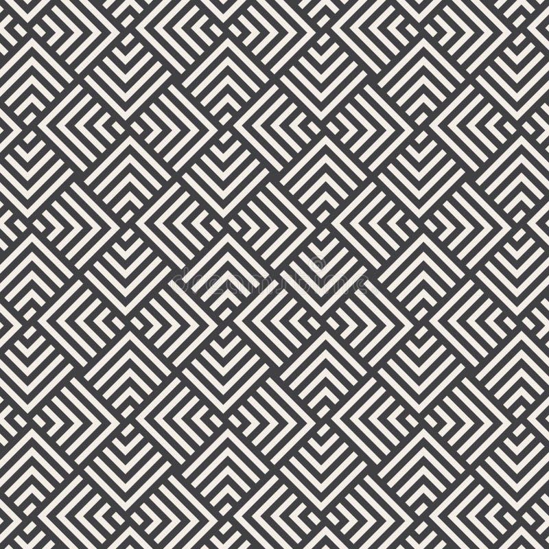 Modelo del vector Repitiendo el galón geométrico de la raya y la forma cuadrada del diamante, gráfico limpio para la tela, papel  ilustración del vector