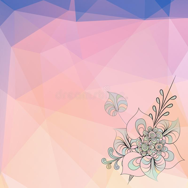 Modelo del vector del triángulo, teja geométrica linda ilustración del vector