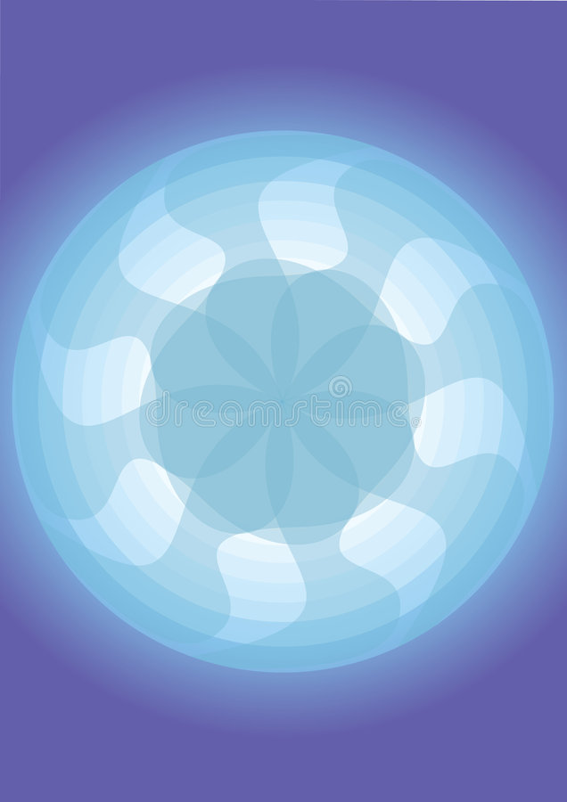Modelo del ventilador con el fondo azul fotografía de archivo libre de regalías