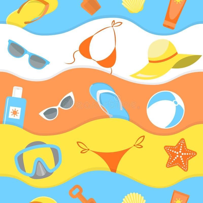 Modelo del verano stock de ilustración