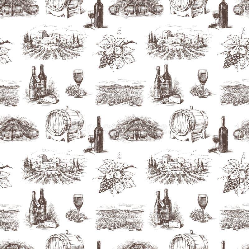 Modelo del vino de la uva ilustración del vector