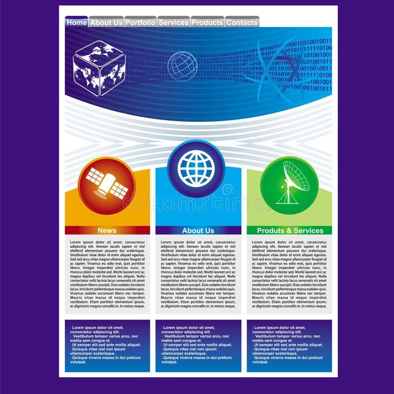 Modelo del Web page ilustración del vector