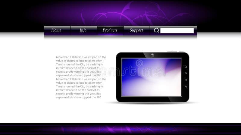Modelo del Web site ilustración del vector