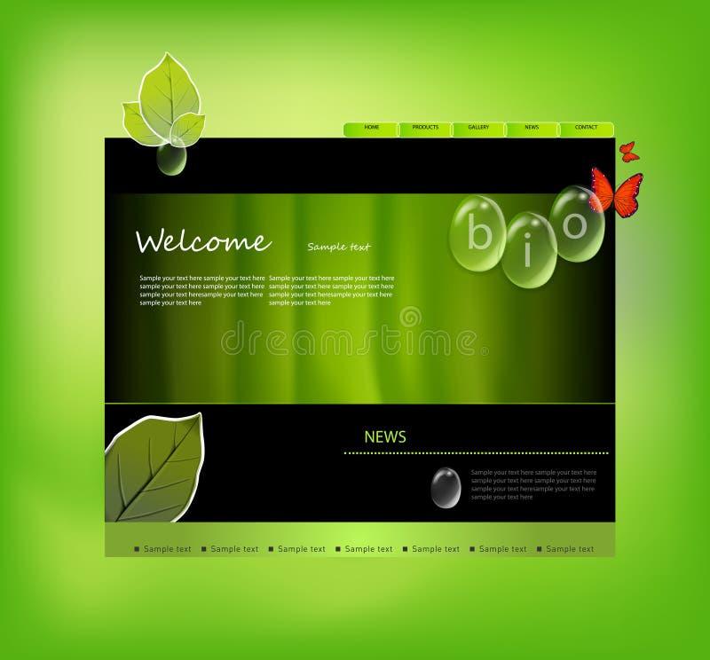Modelo del Web site bio stock de ilustración