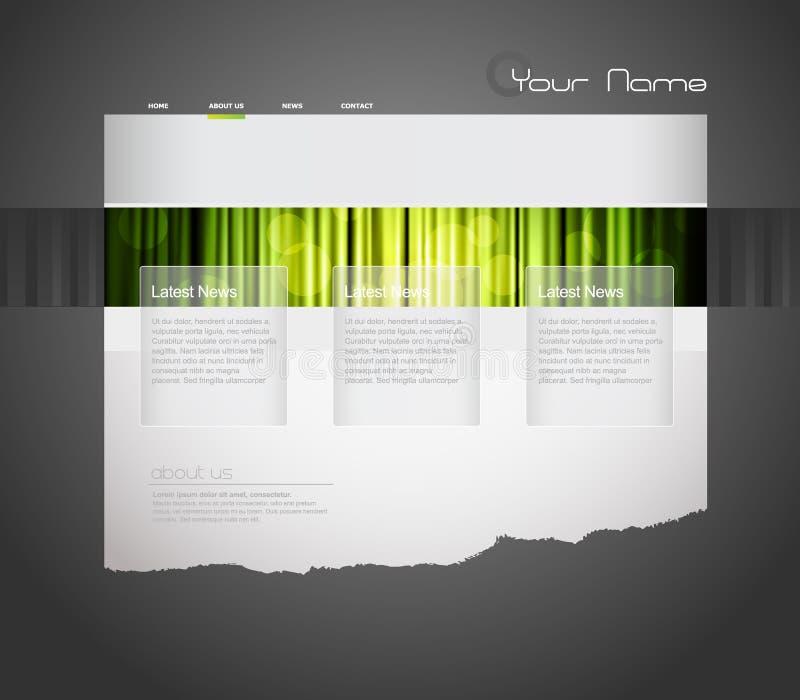 Modelo del Web site con la cortina verde. libre illustration