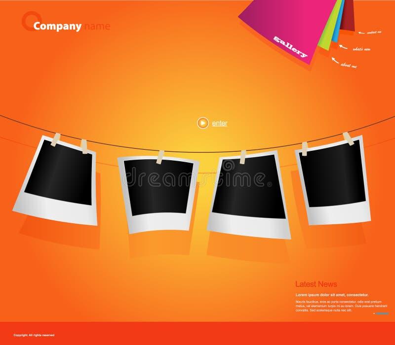 Modelo del Web site con las fotos. libre illustration