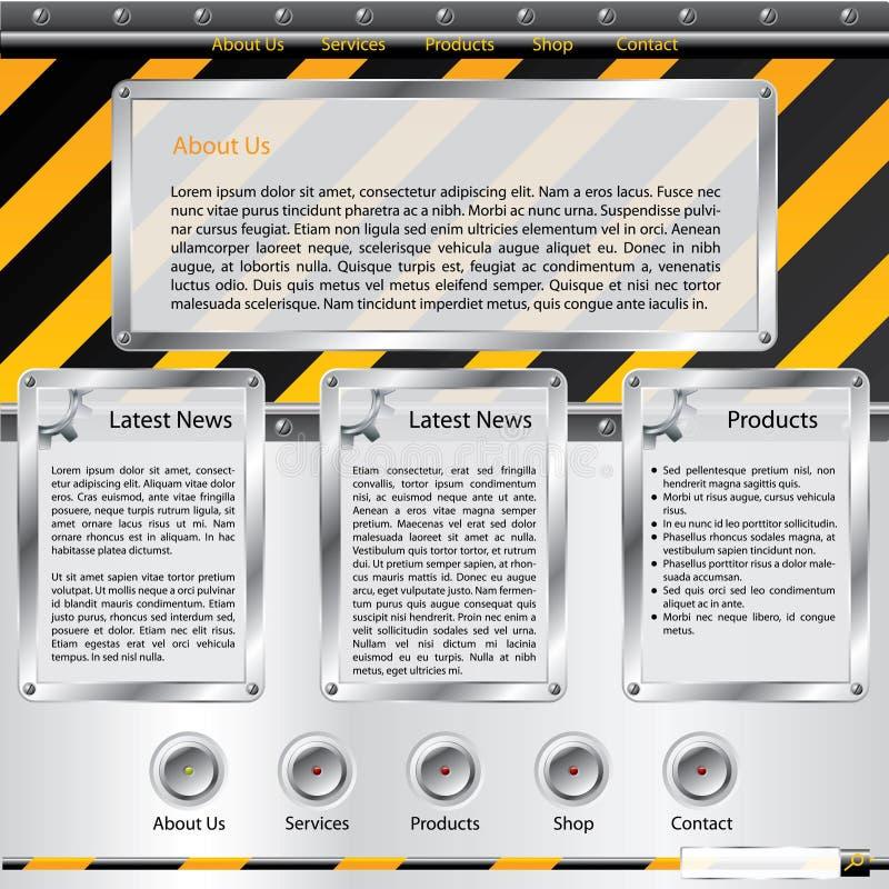 Modelo del Web site de la construcción stock de ilustración