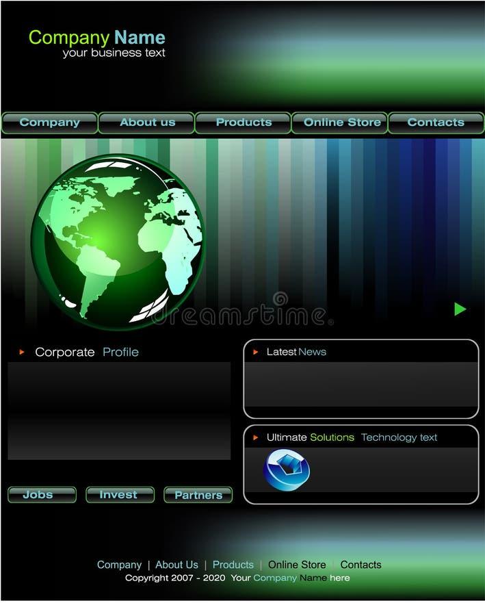 Modelo del Web site del asunto ilustración del vector