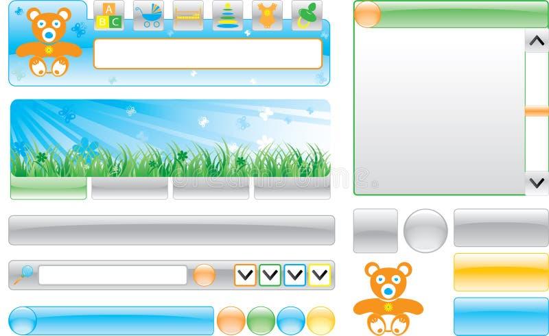 Modelo del Web site del `s de los niños imagenes de archivo