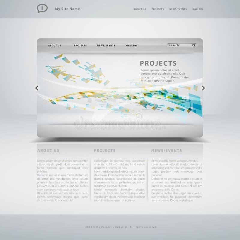 Modelo del Web site editable ilustración del vector