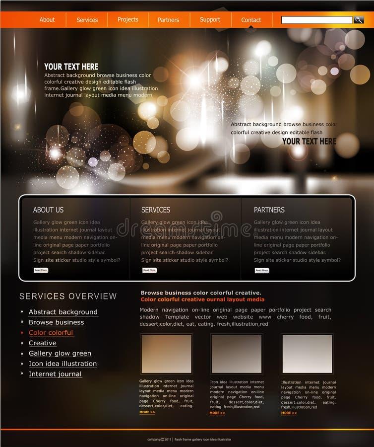 modelo del Web site para el asunto stock de ilustración