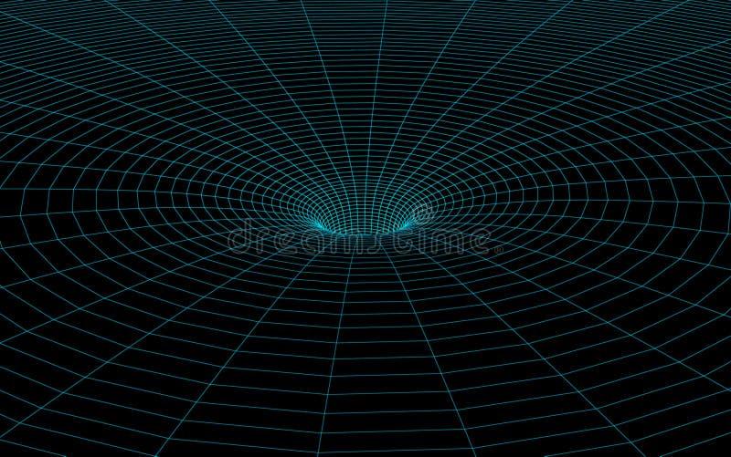 Modelo del Wormhole ilustración del vector