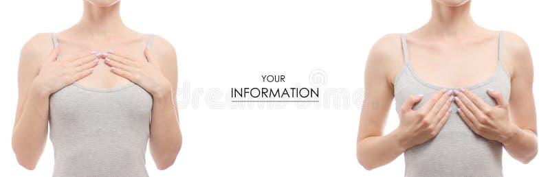 Modelo determinado de la medicina de la belleza de la salud del pecho de la mujer fotografía de archivo libre de regalías