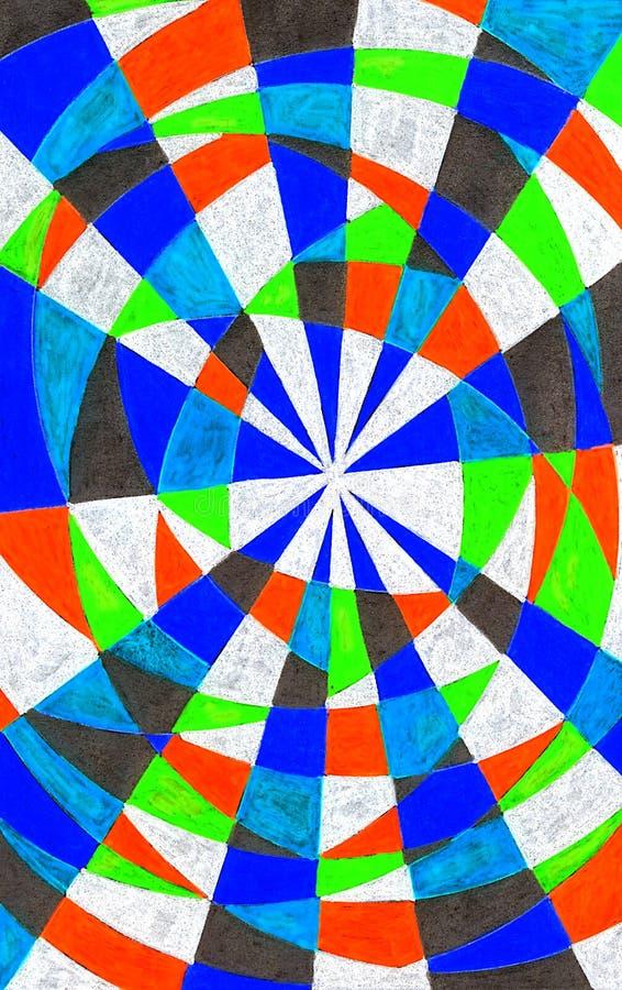 Download Modelo Dibujado Mano Colorida Stock de ilustración - Ilustración de brillante, artístico: 100530366