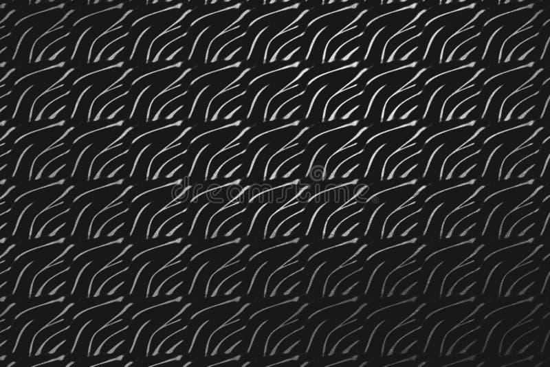 Modelo digital de plata de la textura aislado en el negro, fondo abstracto creativo ilustración del vector