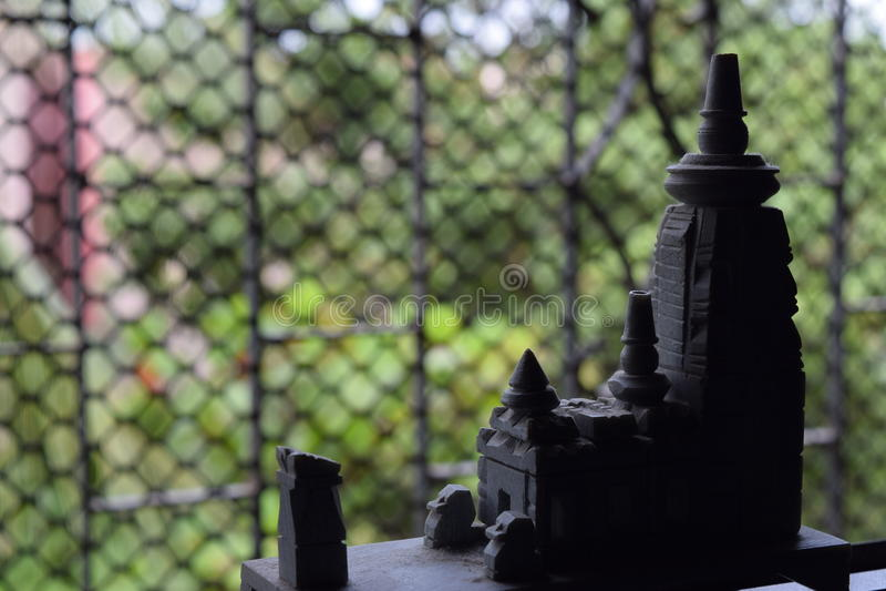Modelo diminuto do templo imagem de stock royalty free