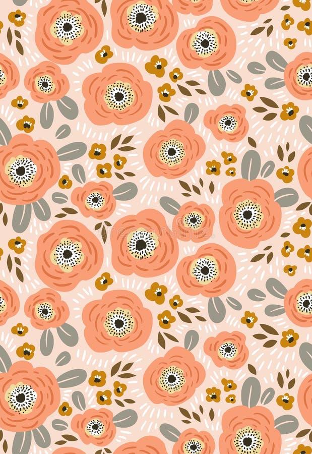 Modelo ditsy floral inconsútil del vector Diseño de la tela con las flores simples libre illustration