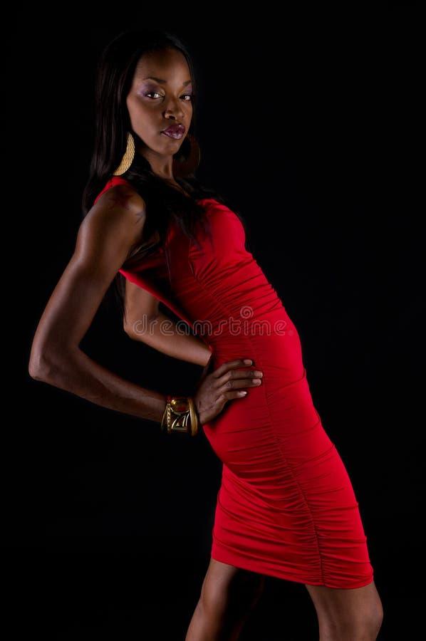 Modelo do americano africano imagens de stock royalty free