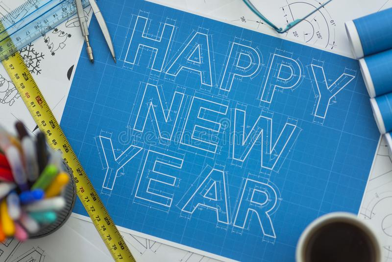 Modelo do ano novo feliz imagem de stock
