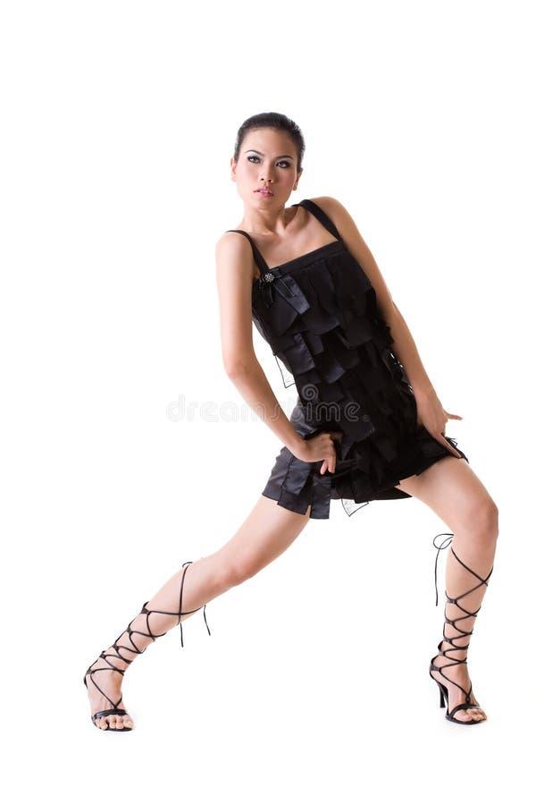 Modelo do asian da forma elevada foto de stock