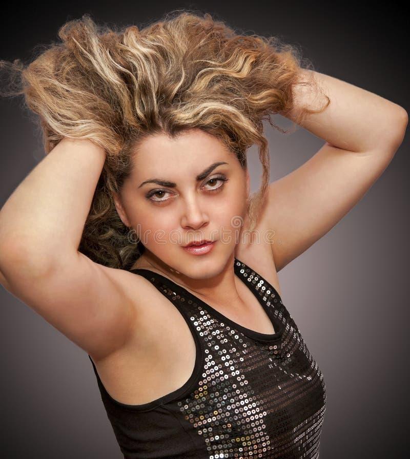 Modelo do cabelo fotografia de stock