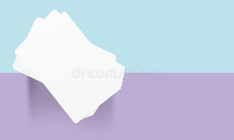 Modelo do cartão no material do Livro Branco ilustração stock