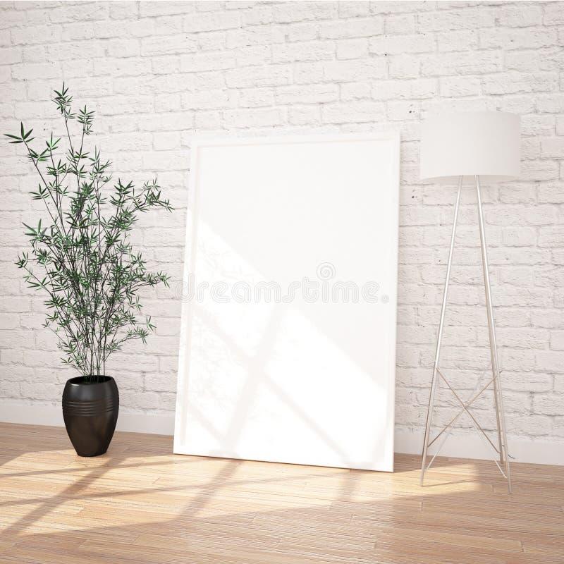 Modelo do cartaz no interior contemporâneo fotos de stock royalty free