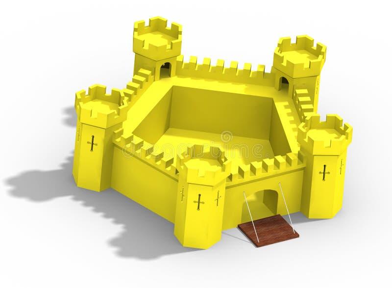 Modelo do castelo amarelo ilustração royalty free