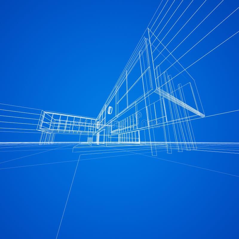Download Modelo do conceito no azul ilustração stock. Ilustração de conceito - 29846619
