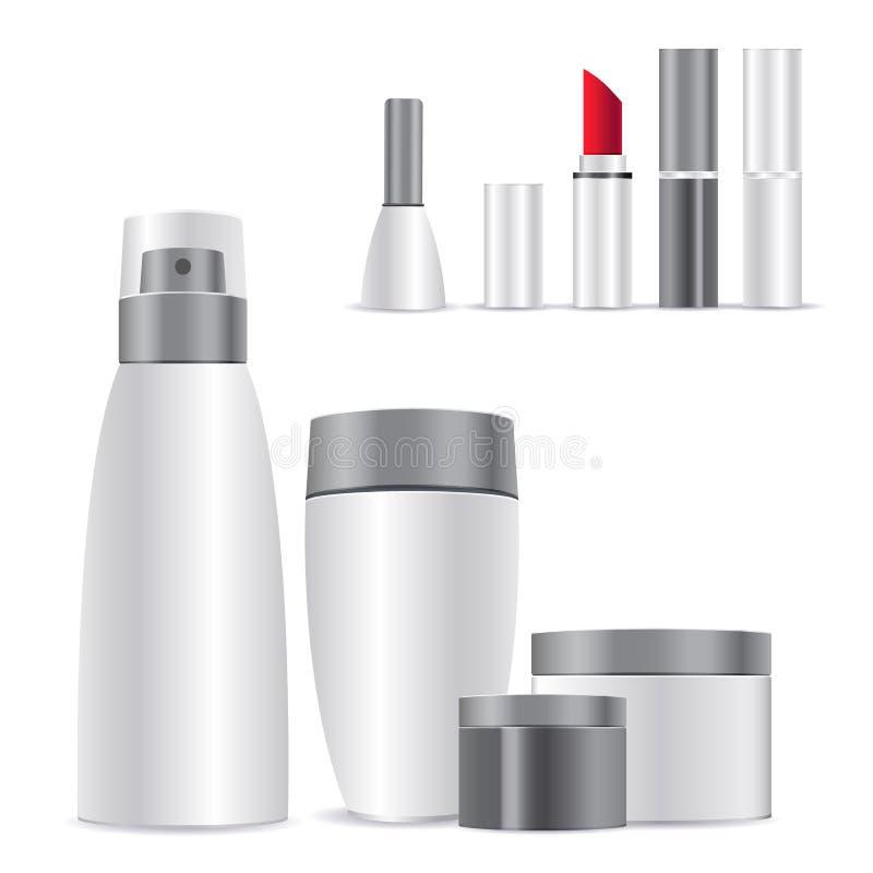 Modelo do cosmético Pacote 3d realístico ilustração royalty free