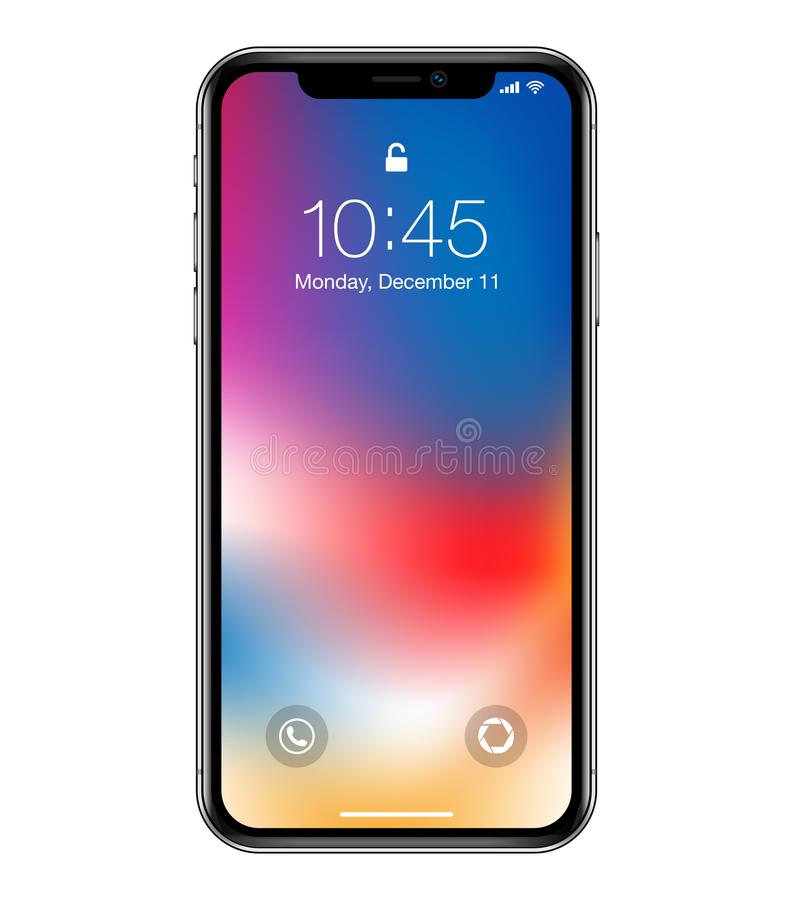 Modelo do dispositivo do telefone celular ilustração stock
