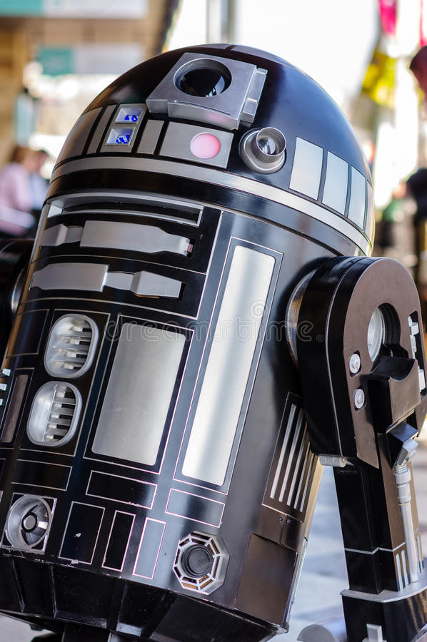 Modelo do droid de Star Wars fotografia de stock royalty free