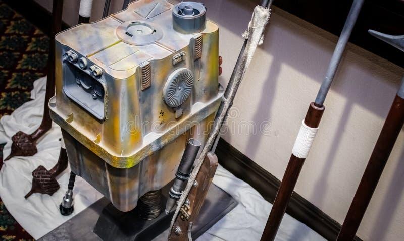 Modelo do droid do poder foto de stock