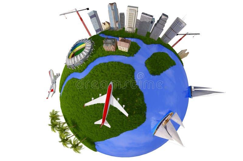 Modelo do globo ilustração do vetor