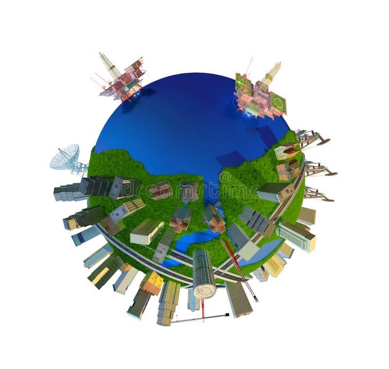 Modelo do globo ilustração stock