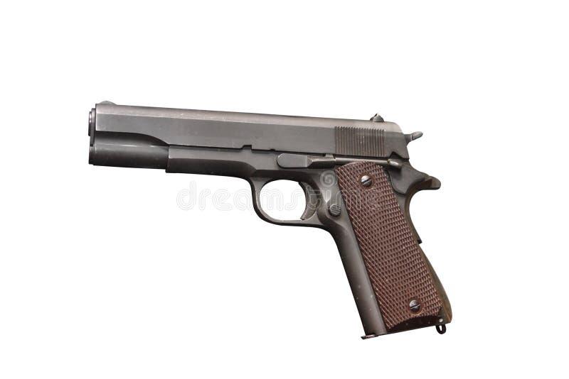 Modelo do governo do potro M1911 A1 da pistola do exército dos EUA imagens de stock