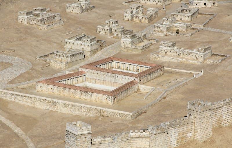 Modelo do Jerusalém antigo que focaliza na associação de Bethesda imagem de stock royalty free