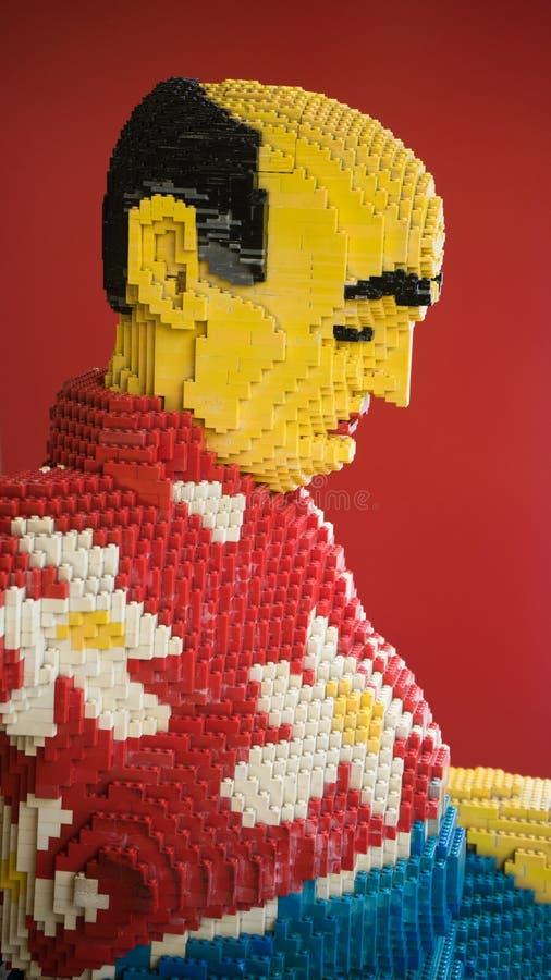 Modelo do lego do ancião fotos de stock