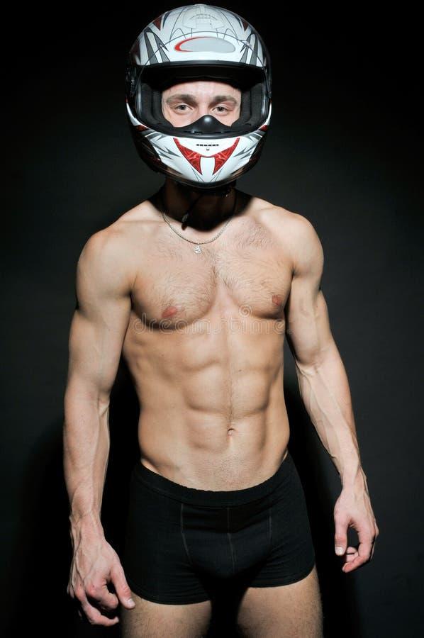 Modelo do motociclista foto de stock royalty free