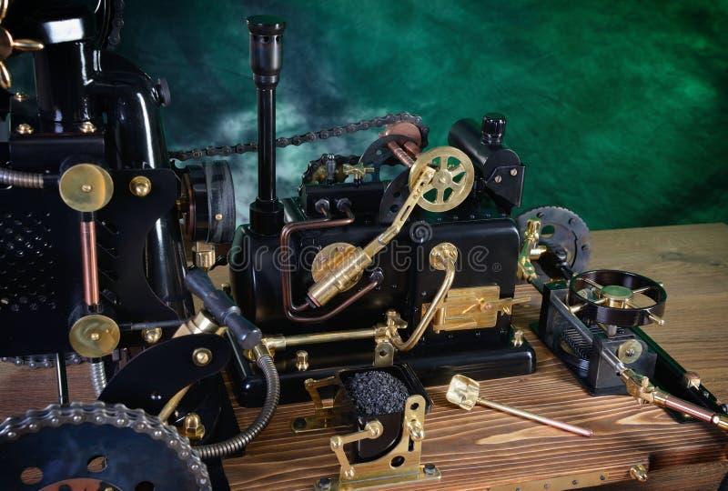Modelo do motor de vapor imagem de stock royalty free