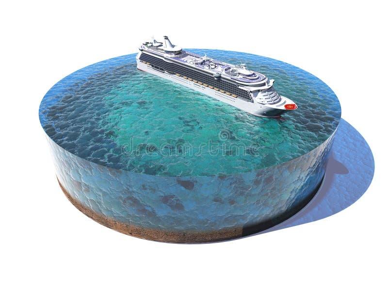 Modelo do oceano ilustração stock