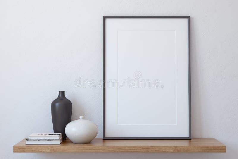 Modelo do quadro 3d rendem ilustração royalty free