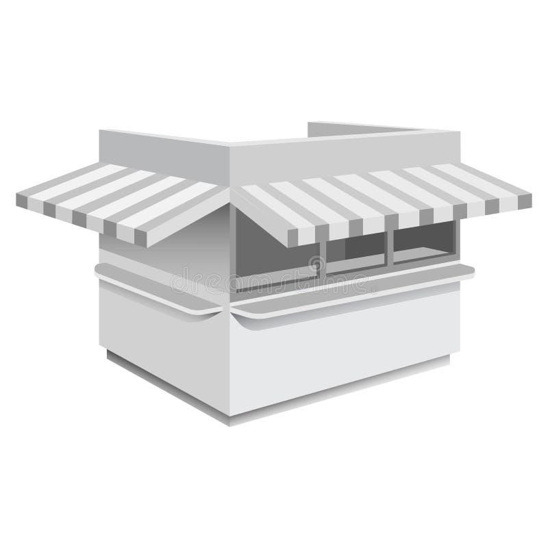 Modelo do quiosque, estilo realístico ilustração do vetor