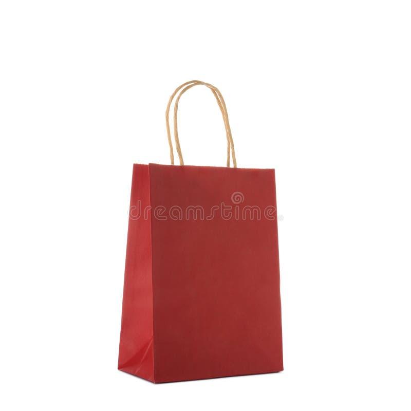 Modelo do saco de compras de papel imagens de stock